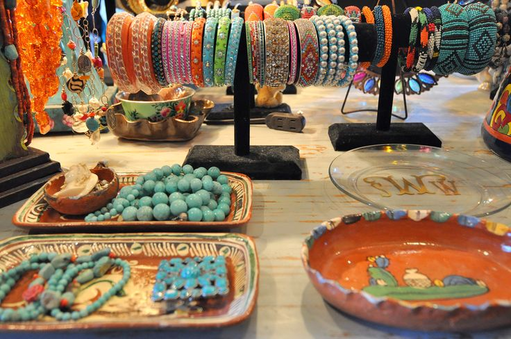 eye candy for sure....great idea for jewelery storage      via Cote de Texas