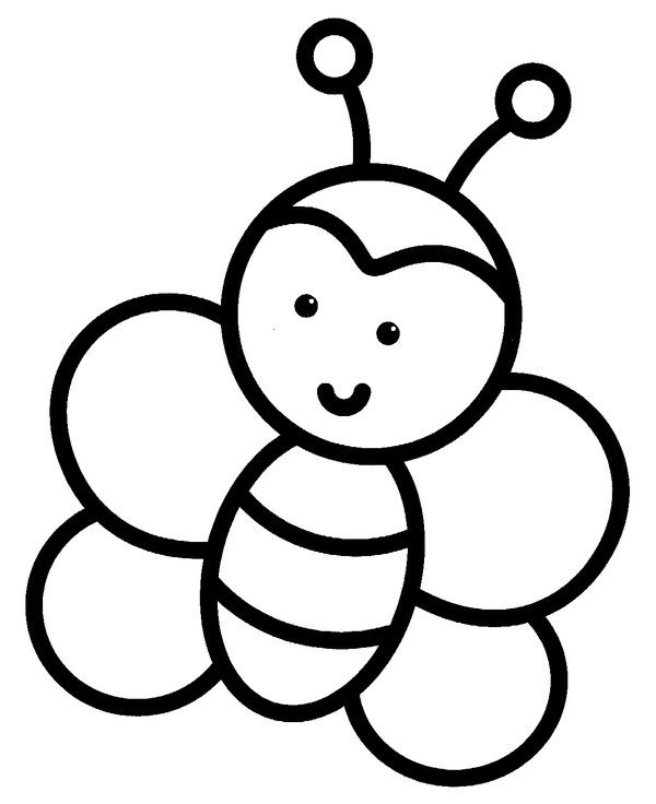 Coloriage Petits Easy Coloring Book Pages Easy Drawings Bee