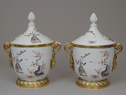 Ice Cream Pail, Meissen ca. 1730; mounts ca. 1780-90. Towards the end of the 18th century, the jars were fitted with gilt-bronze mounts which necessitated removing the porcelain handles, thus altering their appearance and function.