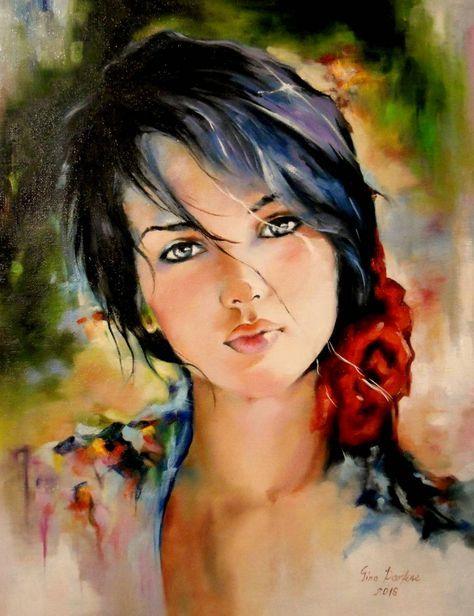 Portal Pictures-DeVis.Ro präsentiert Ihnen das Beautiful Girl 5-Gemälde, eines der Werke von Parfene Gina, im Format 30 x 40 cm. Das Gemälde …