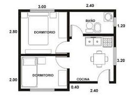 planos de minidepartamentos de 30 metros cuadrados