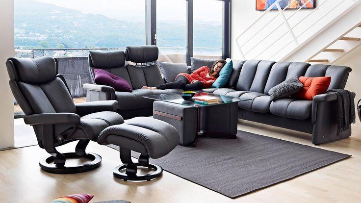 mobel arenz mabel sofa in trapezform himolla cumuly rot aus leder modern trend ga 1 4 nstig farbe laubach pinterest