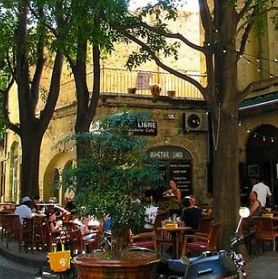 Le café Rebuffy, Montpellier, Languedoc-Roussillon