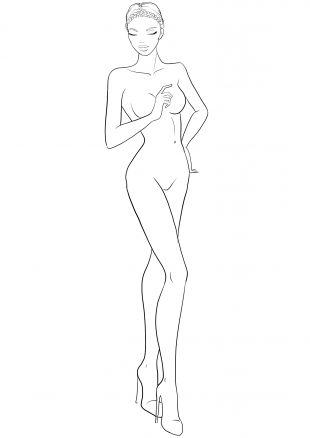 fashion figure template for fashion design sketches