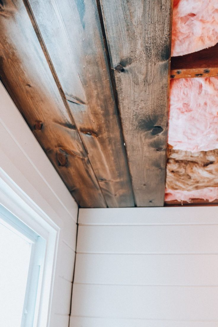 Diy Wood Plank Ceiling How To Easily Install A Shiplap Ceiling In Your Home No Nonsense Project Tutorial In 2020 Wood Plank Ceiling Plank Ceiling Shiplap Ceiling