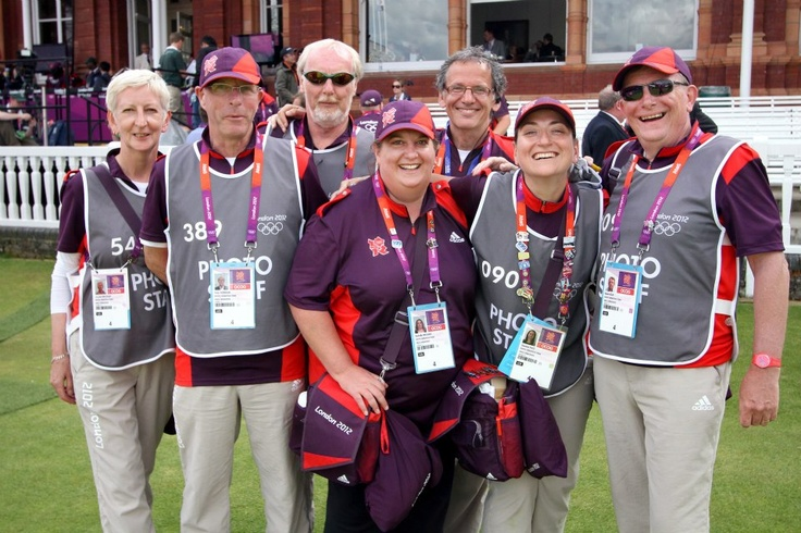 Photo Operations team of GamesMakers at Lords Cricket Ground, Archery competition, London Olympics 2012