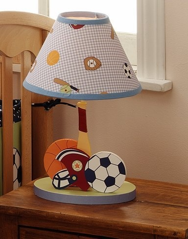 Silver Varsity Sports Table Lamp With Shade And Bulb For Living Room And  Bed Room Lambs ...