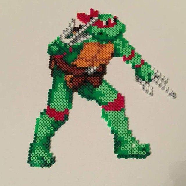 TMNT Raphael perler sprite by Sprite Planet