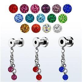 Tunel do ucha s krystalovými kuličkami PTP00205 http://www.piercingate.cz/tunel-do-ucha-s-krystalovymi-kulickami-ptp00205