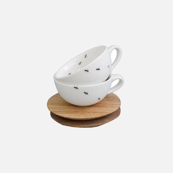 Love Milo - Ants Espresso Cup & Saucer Set