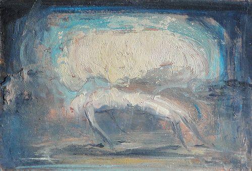 study for the raptur of  ganimede 2009 oil on cardboard  cm 30,5 x 21