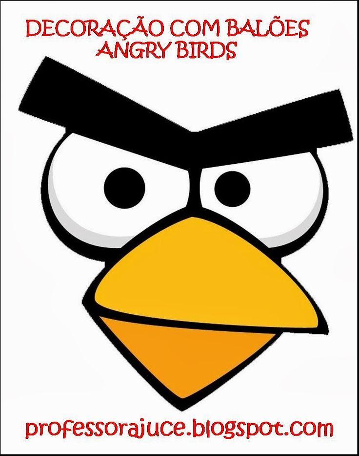 Aprender Brincando: Decora��o com Bal�es - Angry Birds - com molde ...