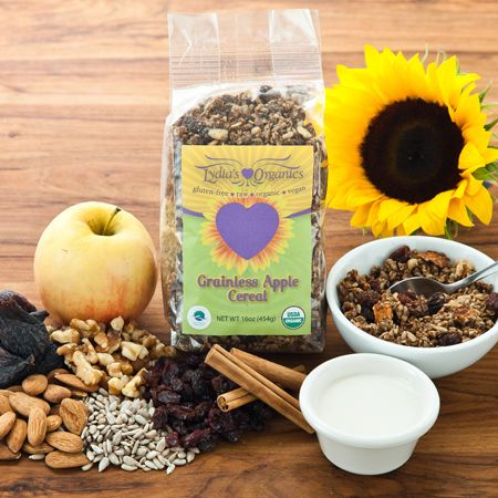 The 10 Best Organic Cereals: The 10 Best Organic Cereals: Lydia's Organics Grainless Apple Cereal http://www.rodalenews.com/best-organic-cereals?page=1