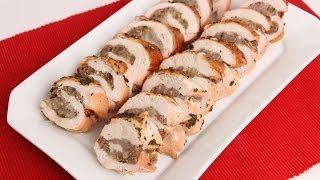 Roasted Stuffed Turkey Breast Recipe - Laura in the Kitchen - Internet Cooking Show Starring Laura Vitale