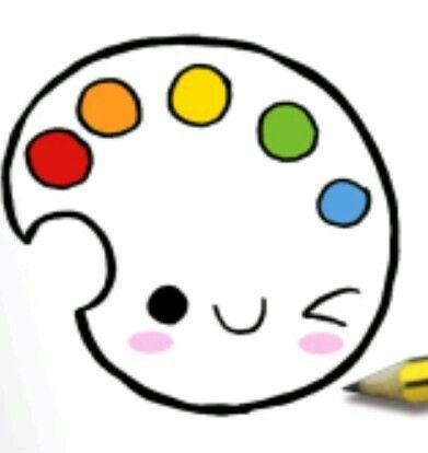 Картинки палитра для срисовки