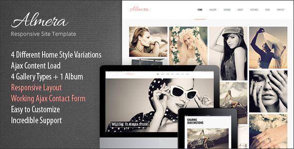 Almera Responsive Portfolio Site Template