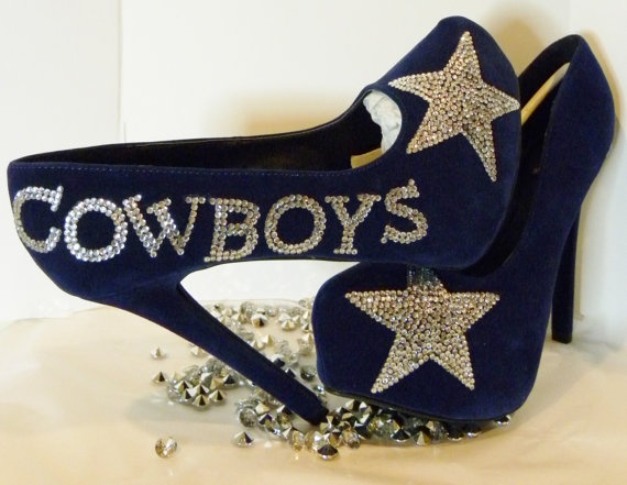 Dallas Cowboys Rhinestone Heels by ShimmerandBling on Etsy  OMG I NEED THESE HEELS!