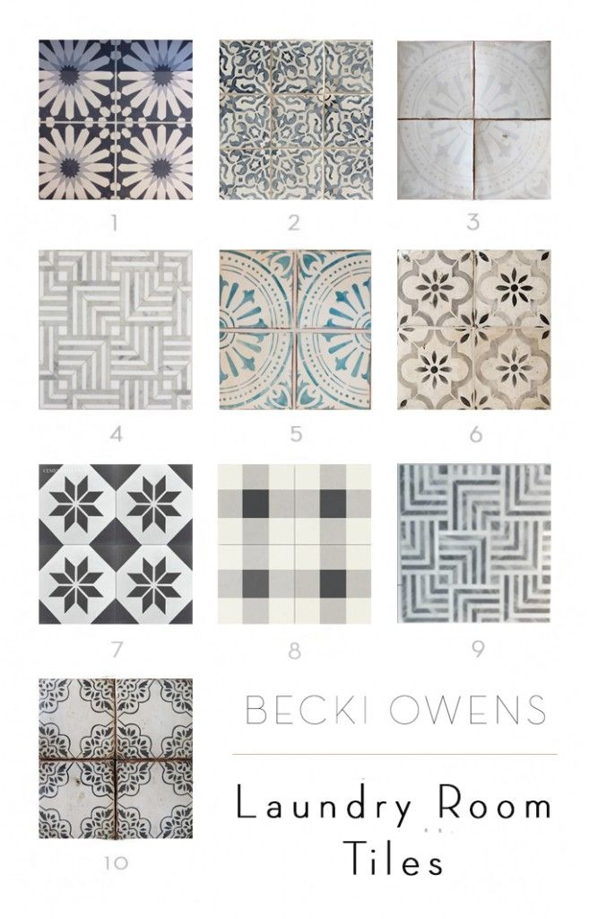 BECKI OWENS - Talking about my favorite laundry room tiles today on the blog!