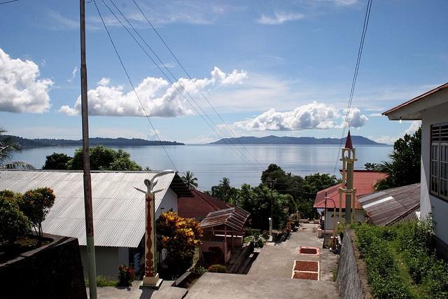 kampong Booi op eiland Saparua