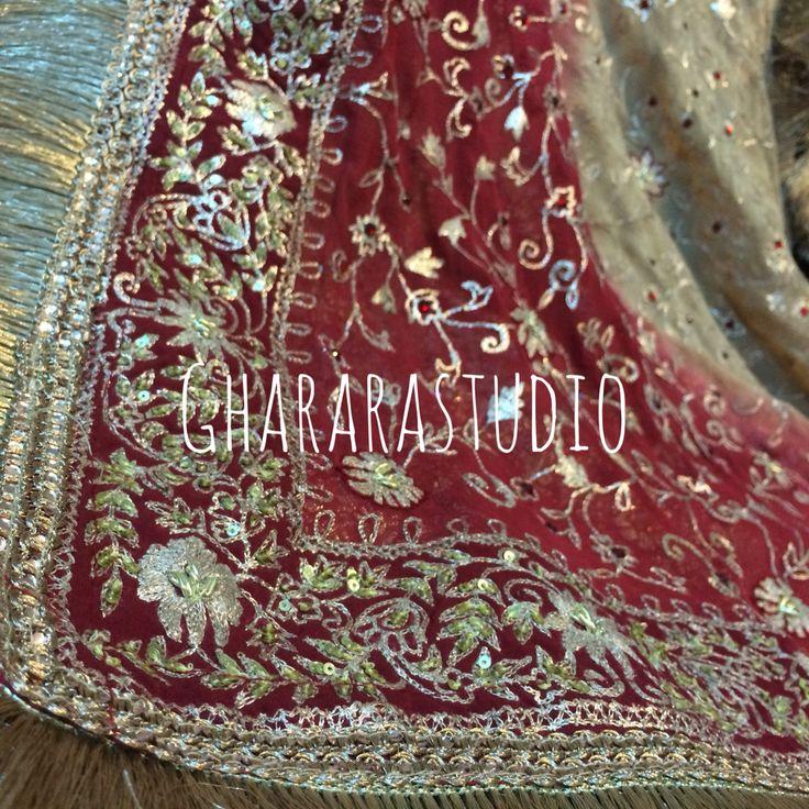 Maroon & Golden Gharara with the best of zardozi and kundan work.  #gharara #ghararah #ghararagirl #ghararalove #golden #maroon #handcrafted #handwork #zari #zardozi #kundan #resham #embroidery #dupatta #ghararadupatta #fashion #style #bridal #bridalwear #bridalgharara #bridalmakeup #bridalhair #bridalstyle #wedding #indiangirl #indianwear #indiastyle #indianbride #indianfashion #indian #indianbeauty #traditional #traditionalbride