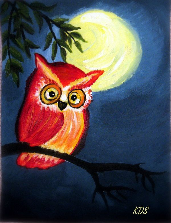 83 best images about owl canvas ideas on pinterest for Night owl paint color