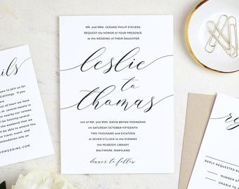 84 best everly compatible printable wedding templates images on printable modern calligraphy wedding invitation template vintage by swellandgrand stopboris Gallery