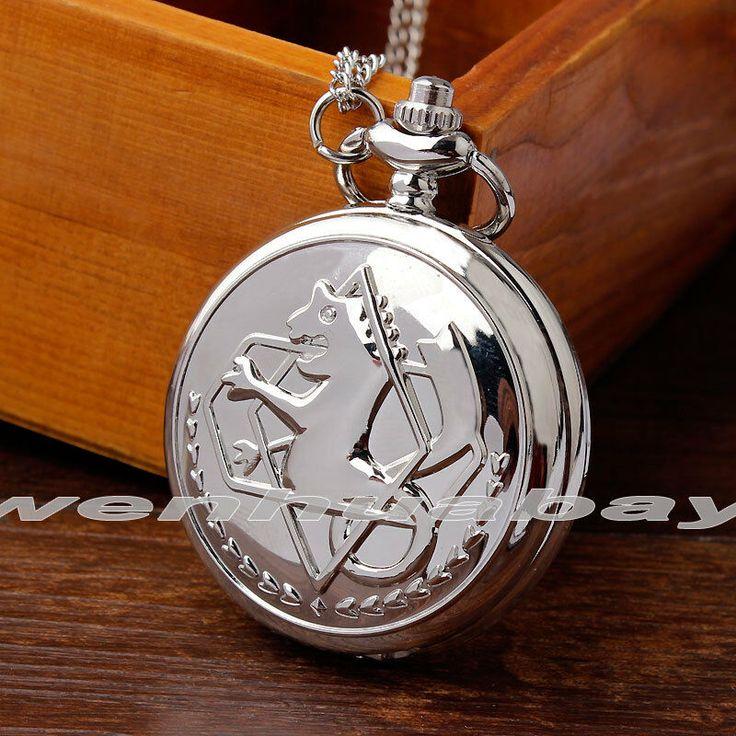 Unique Silver Fullmetal Alchemist Pocket Watch Men Cosplay