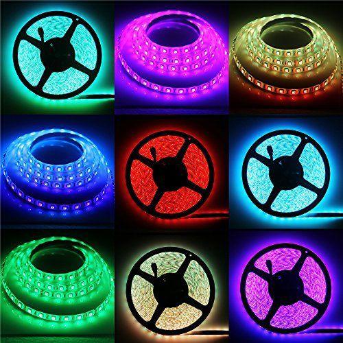 ALITOVE 32.8ft 5050 SMD RGB LED Flexible Strip Light DC24V 10M 600 LEDs IP65 Waterproof Color Changing LED Rope Light Strips 60LEDs/M for…