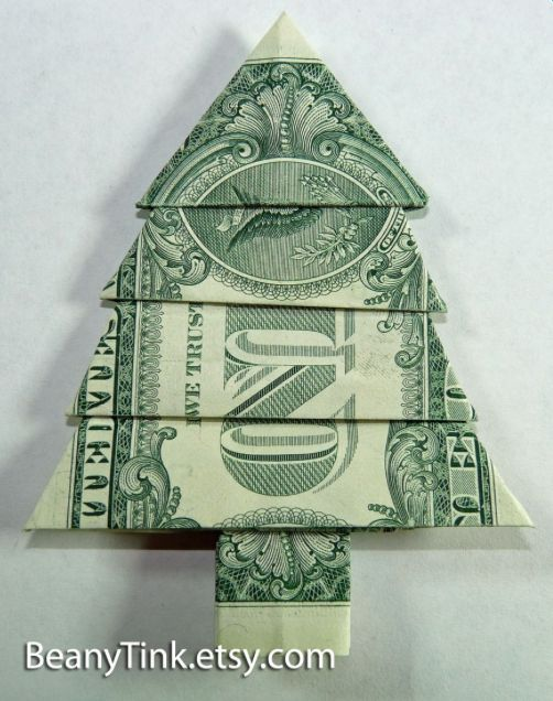 View source image | Orgamies | Pinterest | Dollar origami, Origami christmas  and Pine tree - View Source Image Orgamies Pinterest Dollar Origami, Origami