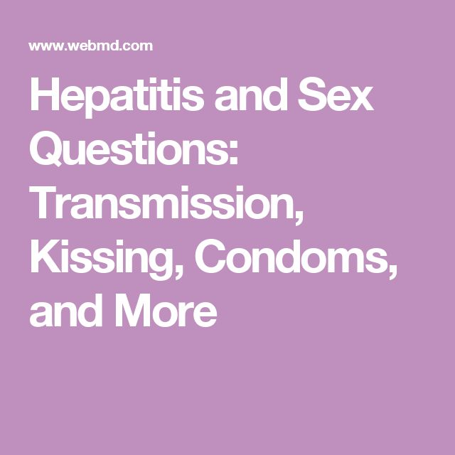 Hepatitis From Sex