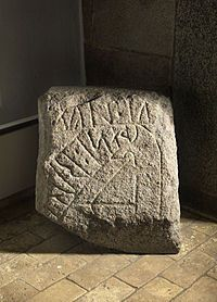 The Spentrup Stone. Found in 1884 by Spentrup Church. 970-1040.