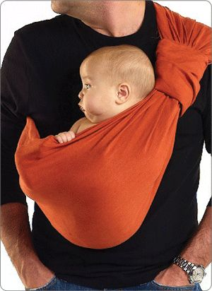 Sakura Bloom Baby Sling - looks awesome on Dads (which saves Mum's back) ;-) - via sakurabloom.com