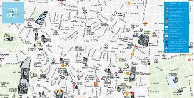 Mapa Turistico De Madrid.Mapa Turistico De Madrid 2018 In 2019 Madrid Map Madrid City