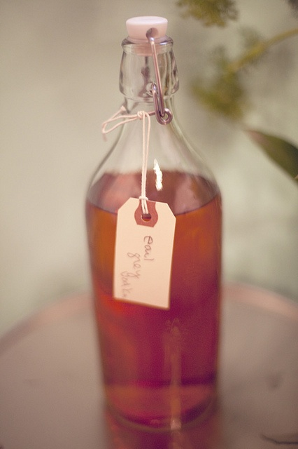 home- infused early gray vodka