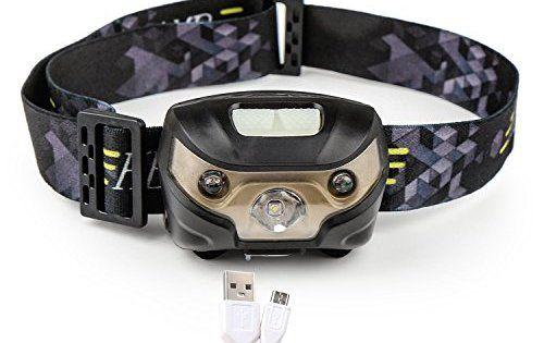 Lampe Frontale, Blusmart Lampes Frontales USB Rechargeable, Câble USB Inclus, Parfaite pour Course, Camping, Pêche, tracking, trail, Vélo,…