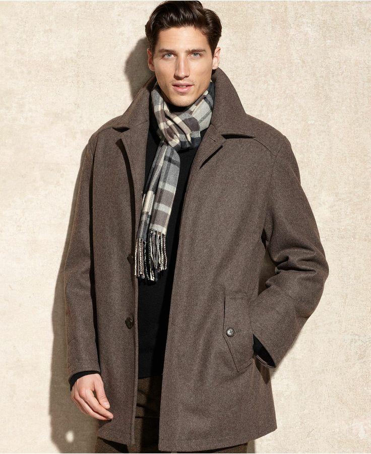 London Fog Big and Tall Coat, Alden Wool-Blend Car Coat - Big & Tall Coats & Jackets - Men - Macy's