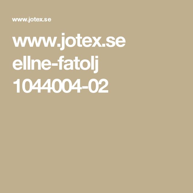 www.jotex.se ellne-fatolj 1044004-02