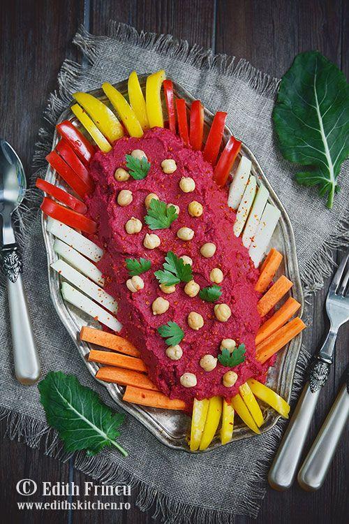 Edith's Kitchen -   Hummus cu sfecla rosie