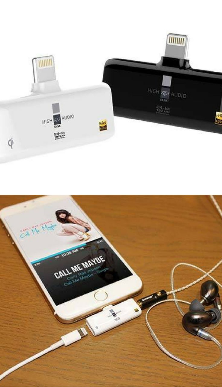 The RES External Digital-to-analog Converter with Lightning Port, 3.5mm Audio Jack and Wireless Charging