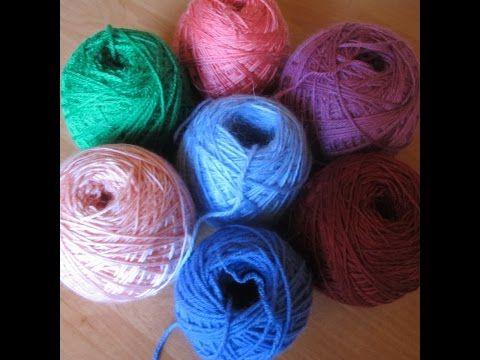 Как намотать клубок пряжи вручную? How to wind a ball of yarn by hand? - YouTube