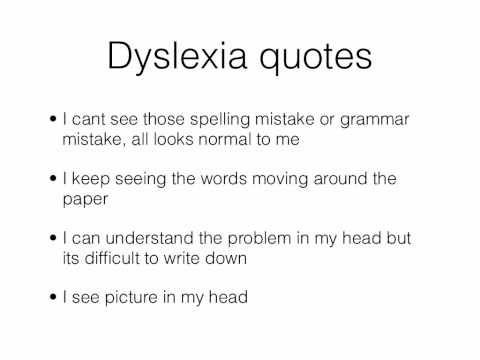 Dyslexia quotes
