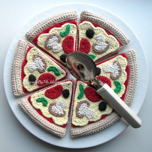 Cupcake By Me ©: Hæklet pizza i slices