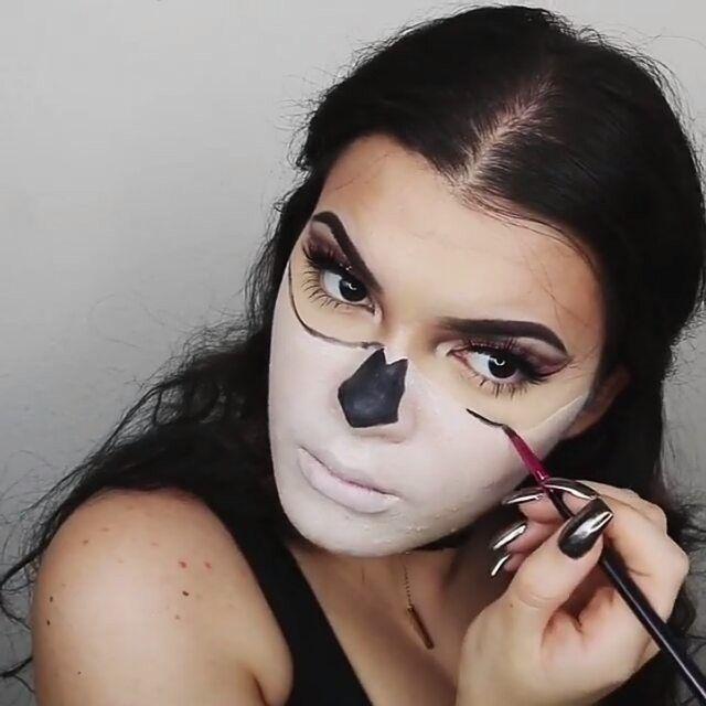 12 best skeleton makeup images on Pinterest | Halloween ideas ...