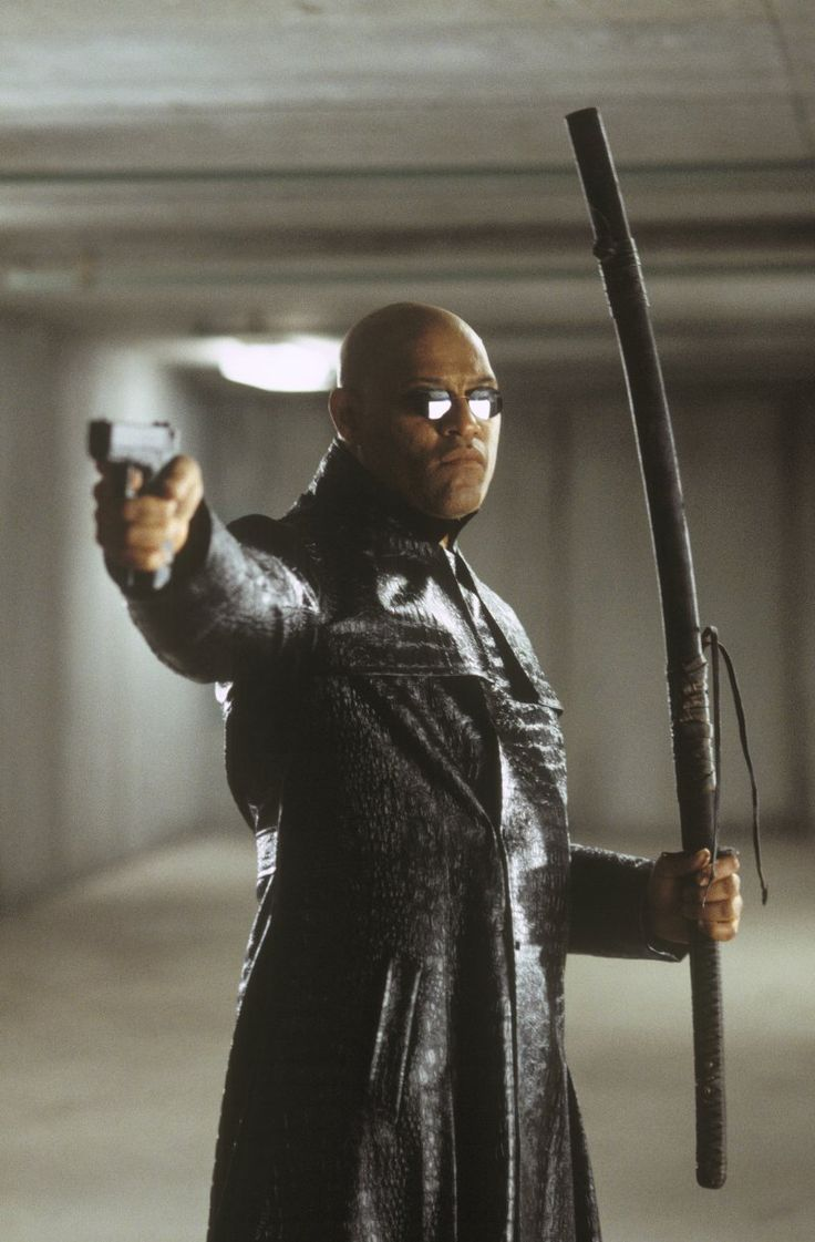 Laurence Fishburne as Morpheus in The Matrix Reloaded.