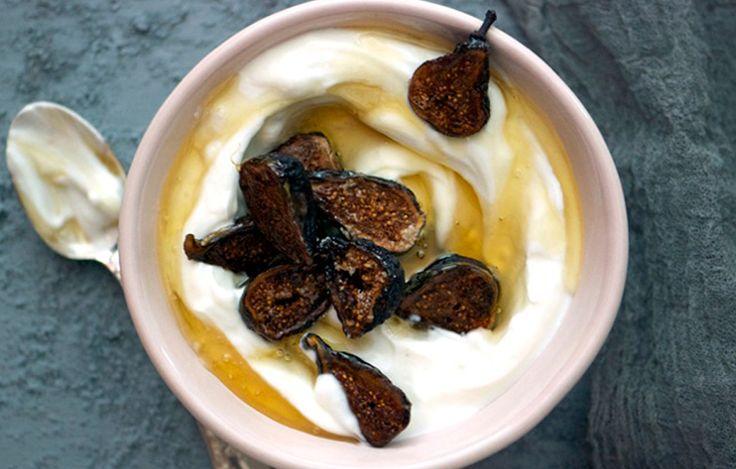 Roasted Figs with Yogurt - Bon Appétit
