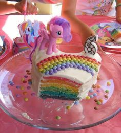 "Rainbow cake ""My little pony"""