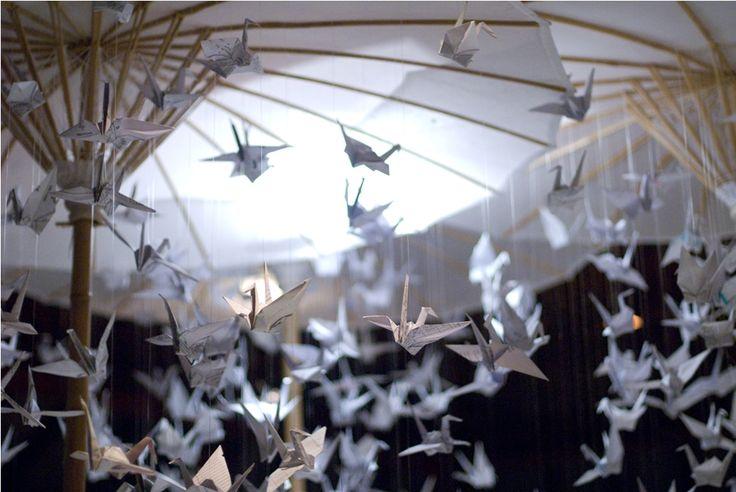 Dangling Origami garlands by Tirtha Bridal Uluwatu Bali