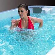 A wide variety of aerobic exercises are possible in a PowerPool™. Aqua jogging is especially effective as the deep water neutralizes the effects of gravity while increasing resistance for an amazing low impact workout.