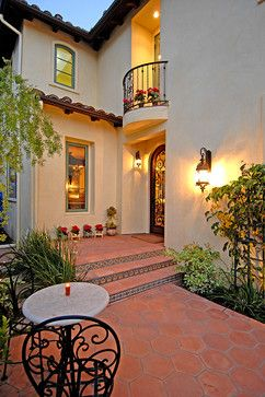 Spanish Colonial Revival mediterranean-entry