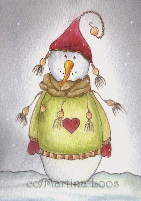 Die besten 25 naive malerei ideen auf pinterest gavin - Aquarell weihnachten ...